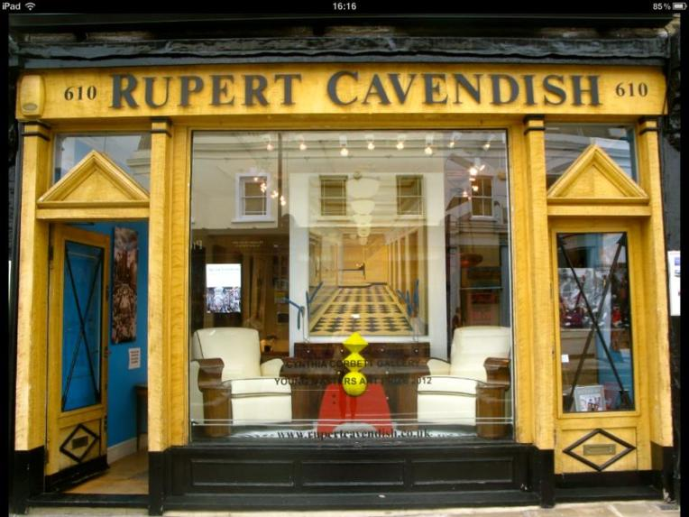 'Pregnant, in the window at Rupert Cavendish, London'
