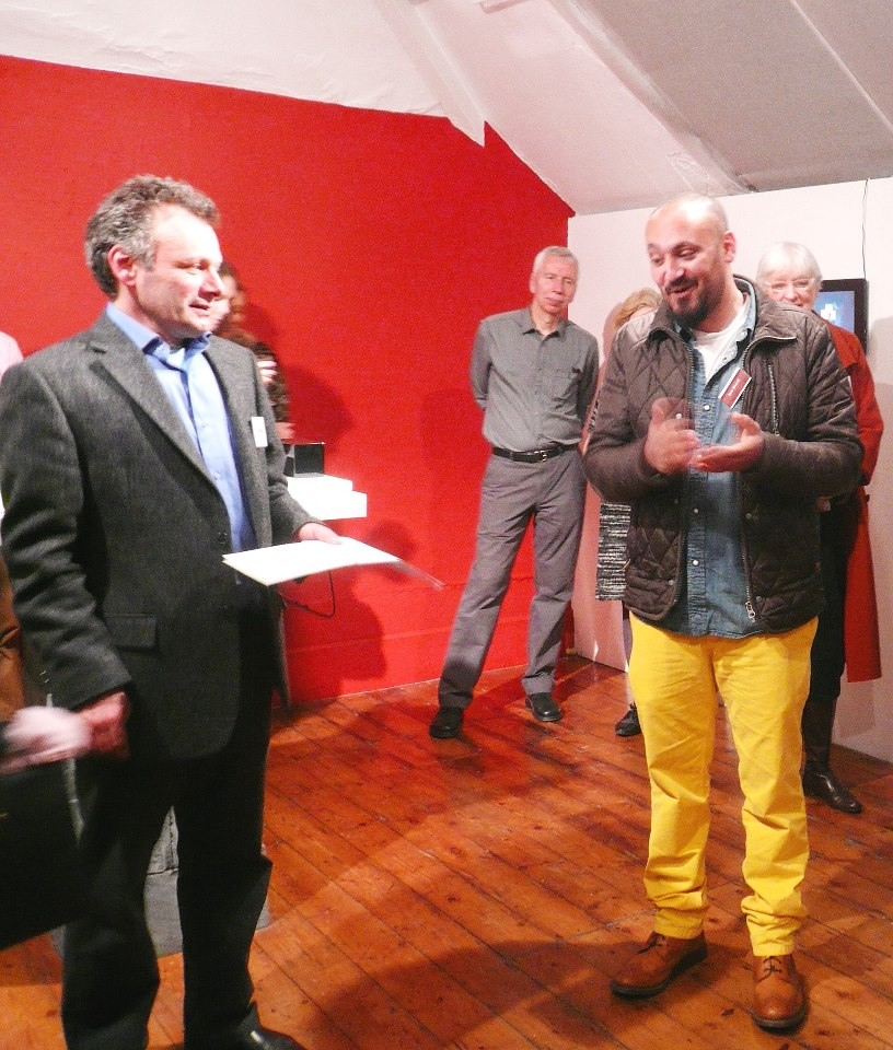 'Receiving the award'