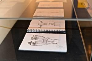 sketchbooks display