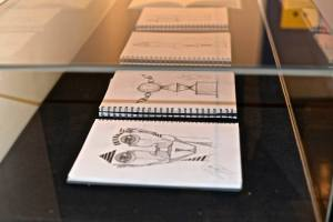 sketchbooks display