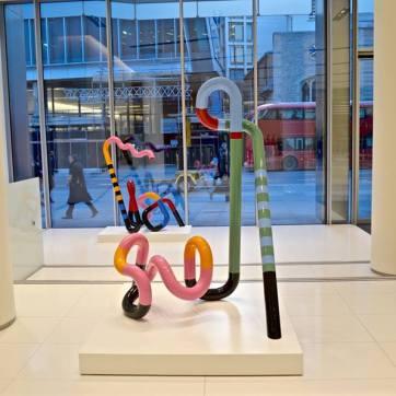 double sculpture window